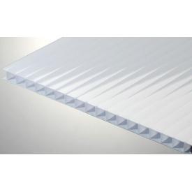 Стільниковий полікарбонат Placarb 6000х2100х4 мм молочний