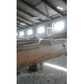 Дерев'яний нащельник гладкий цілісний 40х10х3000 мм