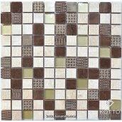 Декоративна мозаїка Котто Кераміка CM 3042 C3 BEIGE EBONI GOLD 300x300x8 мм