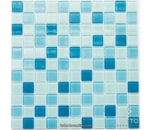 Стеклянная мозаика Котто Керамика GM 4018 C3 BLUE D BLUE M BLUE W 300х300х4 мм