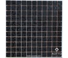 Декоративная мозаика Котто Керамика CM 3039 C PIXEL BLACK 300x300x8 мм