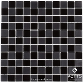 Стеклянная мозаика Котто Керамика GM 4057 CC BLACK MAT BLACK 300х300х4 мм