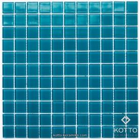 Стеклянная мозаика Котто Керамика GM 4047 C CERULEAN M 300х300х4 мм