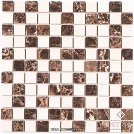 Керамическая мозаика Котто Керамика CM 3022 C2 BROWN WHITE 300x300x10 мм