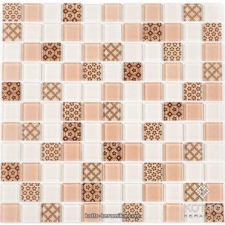 Стеклянная мозаика Котто Керамика GM 4055 C3 BEIGE M BEIGE M STRUCTURE 300х300х4 мм