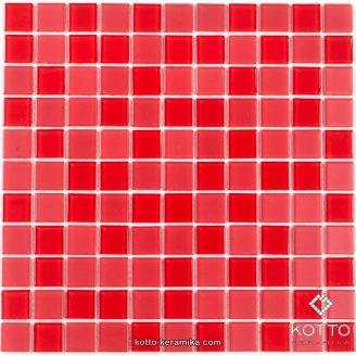 Стеклянная мозаика Котто Керамика GM 4056 C2 RED MAT RED 300х300х4 мм