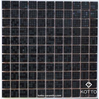 Декоративна мозаїка Котто Кераміка CM 3039 C PIXEL BLACK 300x300x8 мм