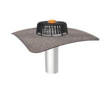 Одношарова воронка для покрівель без теплоізоляції з привареним бітумним фартухом