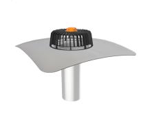 Одношарова воронка для покрівель без теплоізоляції з привареним ПВХ-фартухом