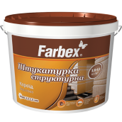 Штукатурка структурная акриловая Короед FARBEX белый 18 кг