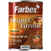 Лак паркетный ПФ-231 FARBEX глянцевый 2,5 л