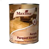 Лак паркетний поліуретан-акриловий Acrylic parquet varnish MAXIMA безбарвний глянцевий 0,75 л