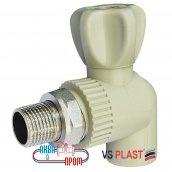 Кран радиаторный полипропиленовый угловой 25x3/4 VS Plast