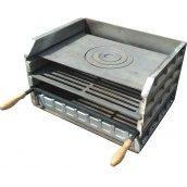 Манагл-гриль Каси чавунний без ніжок з плитою №8 540х400х360 мм
