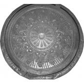 Люк садовий декоративний УКРОП сірий чавун СЧ20