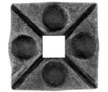Пятка кованная металлическая 50х50х6 мм (44.001)