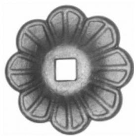 Пятка кованная металлическая 90х90х4 мм (44.060)
