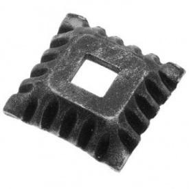 Пятка кованная металлическая 50х50х12х4 мм (44.047)