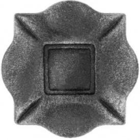 Пятка кованная металлическая 100х100х10 мм (44.011)