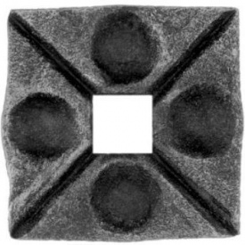 П'ята кована металева 50х50х6 мм (44.001)