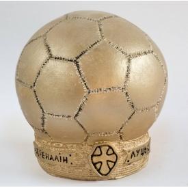 Гипсовая статуэтка футбольный мяч Ст/008 16х14х10 см