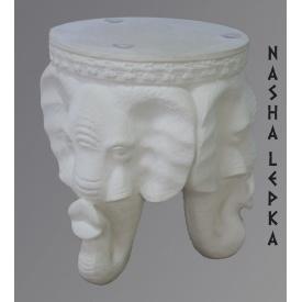 Підставка за квітка-столик з гіпсу Слон Стл/001
