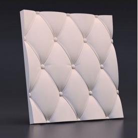 """3D гіпсові панелі """"Подушка"""" 3D/18 50х50х2,5 см"""