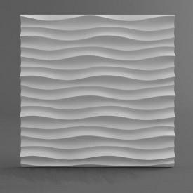 """Гіпсові панелі """"Горизонтальна хвиля"""" 3D/07 50х50х2,5 см"""