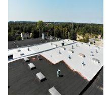 Гидроизоляция плоской крыши бесшовной полиуретановой мастикой