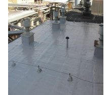 Ремонт м'якої покрівлі даху рідкою поліуретановою гумою