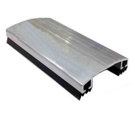Соединительный алюминиевый профиль крышка арочная 60 мм 6 м