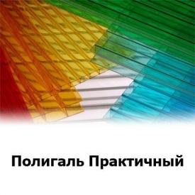 Сотовый поликарбонат Polygal Практичный цветной 8 мм 2,1x12 м