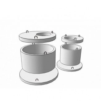 Плита перекрытия колодца 1ПП 20-2
