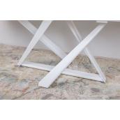 Стол Nicolas Fleetwood New стекло сатин 1600х900х750 мм белый