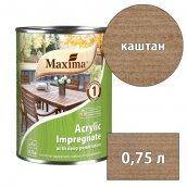 Морилка акриловая глубокого проникновения Acrylic Impregnate MAXIMA каштан 0,75 л