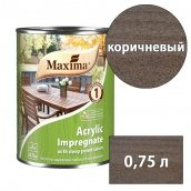 Морилка акриловая глубокого проникновения Acrylic Impregnate MAXIMA коричневый 0,75 л