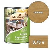 Морилка акриловая глубокого проникновения Acrylic Impregnate MAXIMA сосна 0,75 л