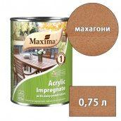 Морилка акриловая глубокого проникновения Acrylic Impregnate MAXIMA махагони 0,75 л