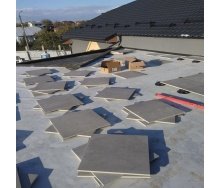 Облицювання тераси керамогранітом на опори