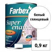 Эмаль алкидная ПФ-115П FARBEX белый глянцевый 0,9 кг