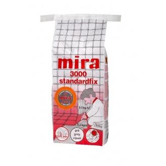 Клей для плитки и натурального камня Mira 3000 standardfix 25 кг серый