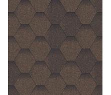 Бітумна черепиця Aquaizol Мозаїка 320х1000 мм коричневий мікс