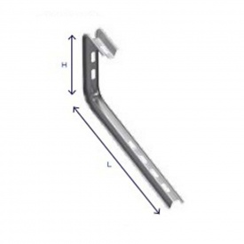 Настенная консоль C-образная DrateFlex 100 мм