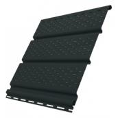 Софіт Ю-ПЛАСТ перфорований 3 м графітовий
