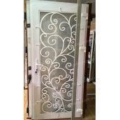 Металопластикові фасадні двері KR-04 900х2050 мм колір білий