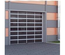 Промышленные секционные ворота DoorHan ISD02 с панорамным остеклением