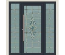 Алюминиевые фасадные двери m-1152-1