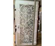 Металлопластиковые фасадные двери KR-04 900х2050 мм цвет белый
