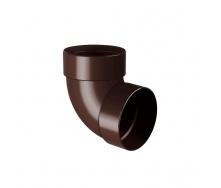 Отвод двухмуфтовый Rainway 87 градусов 75 мм коричневый