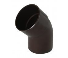 Отвод одномуфтовый Nicoll 45° коричневый